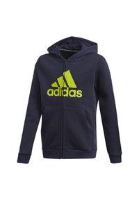 adidas Performance - MUST HAVES FLEECE FULL-ZIP HOODIE - Zip-up hoodie - blue - 2