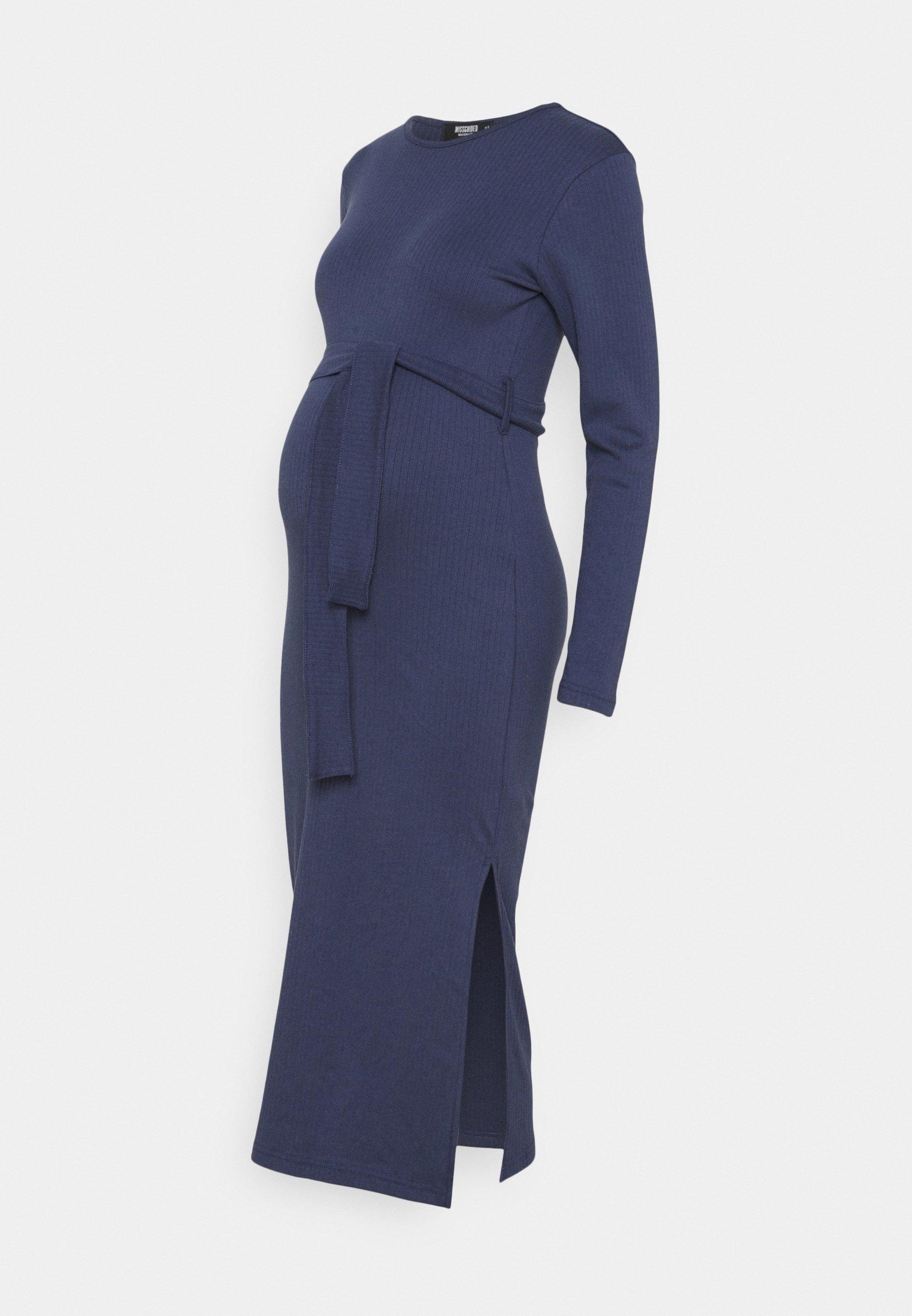 Women MATERNITY RIB BELTED SIDE - Jumper dress