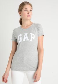 GAP - TEE - Print T-shirt - grey heather - 0