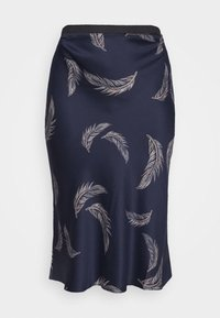 CAPSULE by Simply Be - FEATHER PRINT COLUMN MIDI SKIRT - Pencil skirt - navy - 3