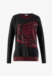 Alba Moda - Sweatshirt - schwarz,rot - 4