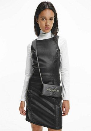 COATED DENIM BODYCON - Day dress - denim black