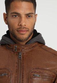 Oakwood - DRINK - Leather jacket - tan - 4