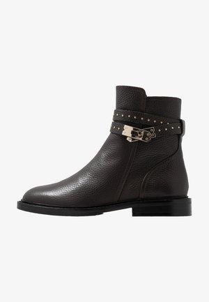 LOCK BOULEVARD - Cowboy/biker ankle boot - brown/gold
