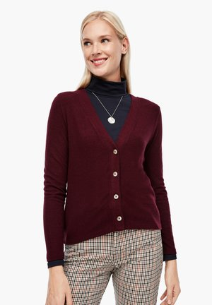 Cardigan - dark red melange