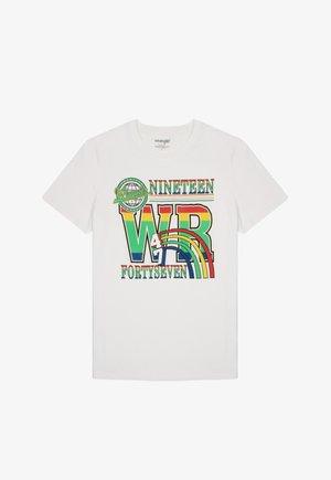 Print T-shirt - vintage white