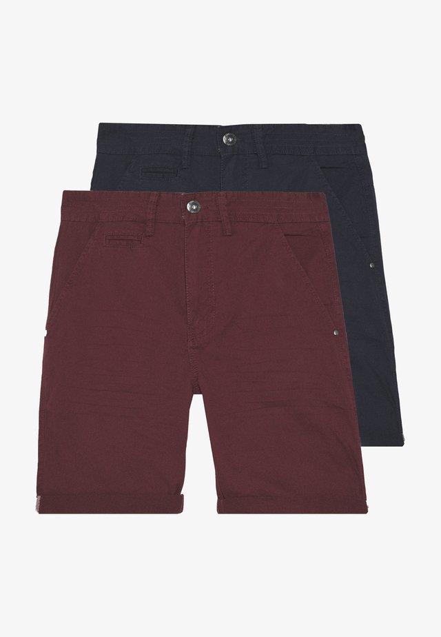 EXCLUSIVE STELLAN 2 PACK - Short - navy/burgundy/white