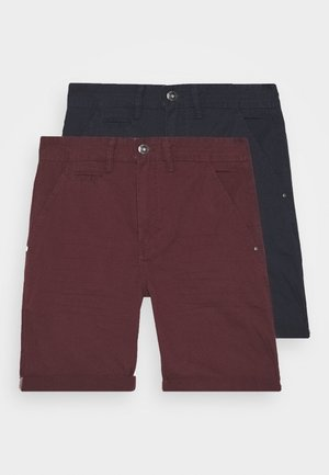 EXCLUSIVE STELLAN 2 PACK - Kraťasy - navy/burgundy/white