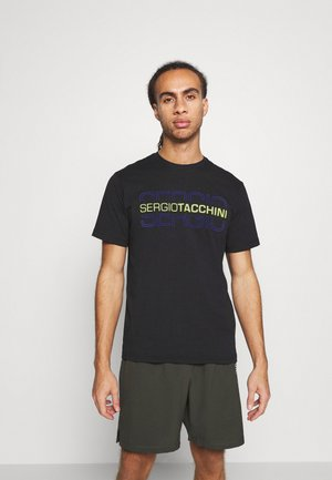 BOWL - Print T-shirt - black/dazzling blue