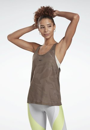 PERFORATED TANK TOP - Top - grey