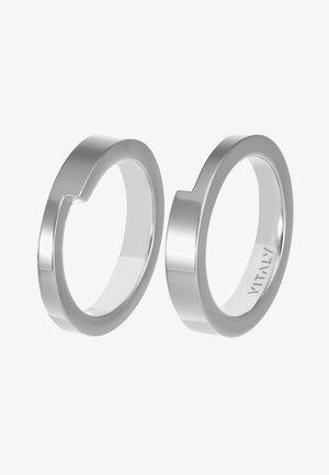 GRIDLOK 2PACK - Prsten - silver-coloured
