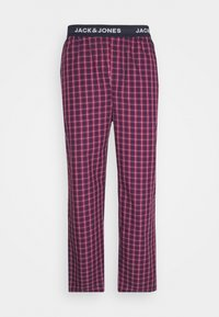 Jack & Jones - JACRED CHECK PANT - Pyjama bottoms - red bud - 0