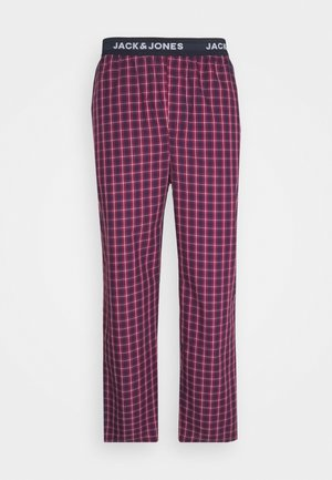 JACRED CHECK PANT - Pyjama bottoms - red bud