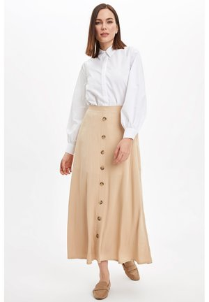 DEFACTO  WOMAN - Maxi skirt - beige
