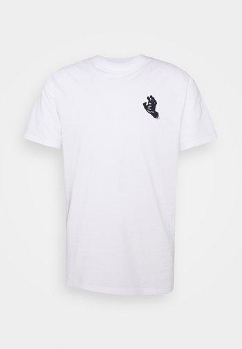 UNISEX CONTRA HAND MONO - T-shirt imprimé - white