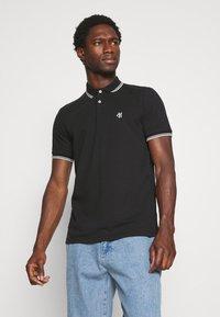 Marc O'Polo - SHORT SLEEVE CONTRAST TIPPING - Polo shirt - black - 0
