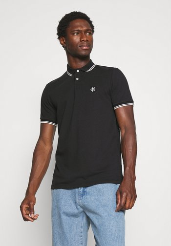 SHORT SLEEVE CONTRAST TIPPING - Polo shirt - black
