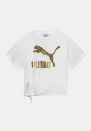 GIRLS KNOT TEE - Print T-shirt - white