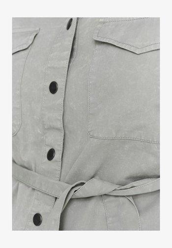 Button-down blouse - slate gray