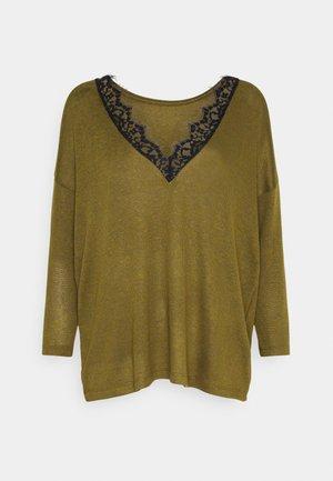 VMBRIANNA 3/4 V BACK  - Pullover - fir green/ivy green melange