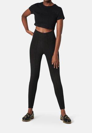 CLEAN HIGH RISE PANTS - Leggings - Trousers - black