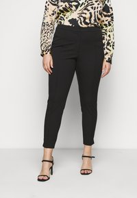 Selected Femme Curve - SLFLUE PINTUCK PANT - Trousers - black - 0