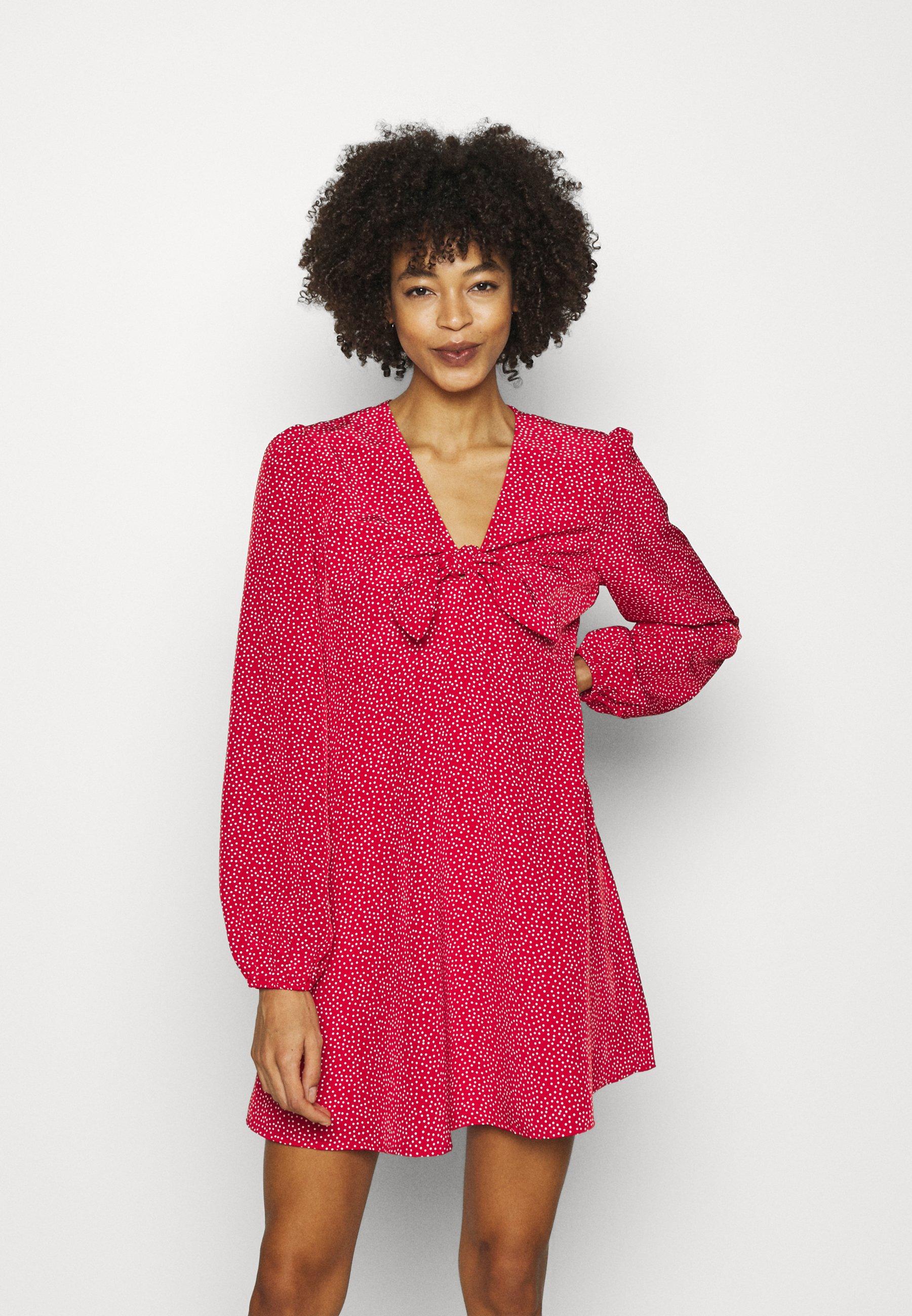 Women ALIMA DRESS - Day dress - red
