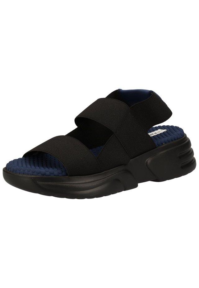 Sandalen met plateauzool - nero ex001