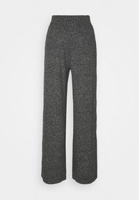 Banana Republic - WIDE LEG BRUSHED PANT - Trousers - marl heather - 1