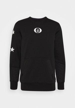 LET IT STORM CREW - Fleecepullover - black