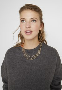 ERASE - TWO ROW MIXED LINK CHAIN - Necklace - gold-coloured - 1