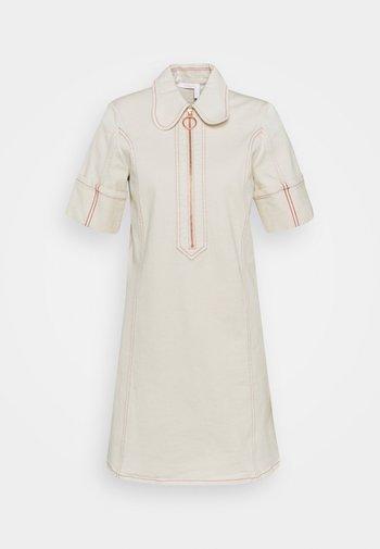 Shirt dress - buttercream