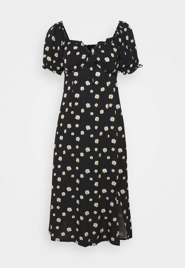 LORA DAISY MIDI BALCONETTE DRESS - Day dress - black