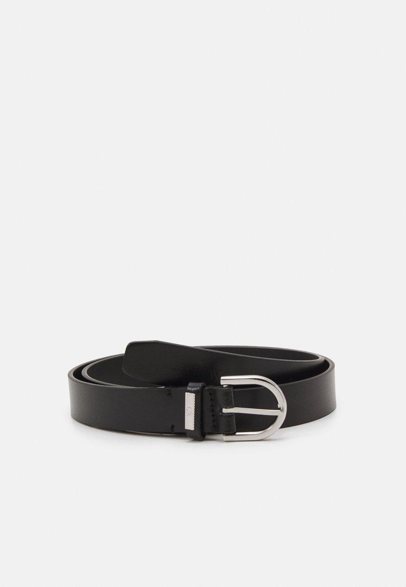 Calvin Klein - ROUND BELT - Belt - black