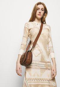 Polo Ralph Lauren - NOVELTY TEXTURE - Jumper dress - beige/multicoloured - 3
