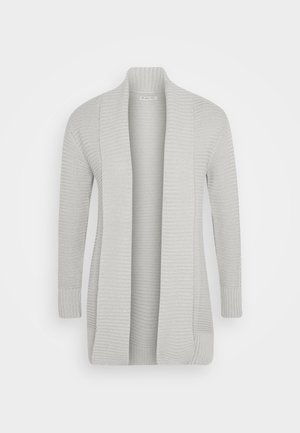 THICK SHAWL CARDIGAN - Strickjacke - grey melange