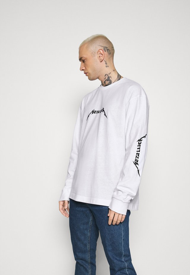 METALLICA LONG SLEEVE - Top s dlouhým rukávem - white