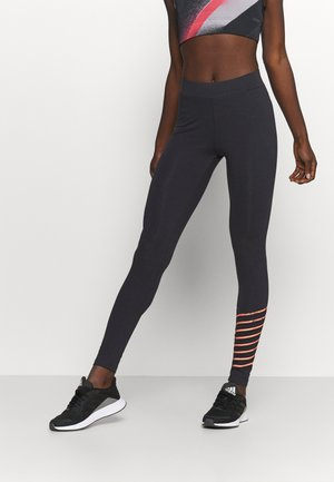 ONPFENNY LIFE - Leggings - blue graphite/neon orange