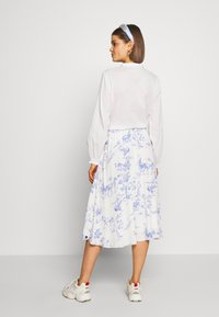 Nümph - NUARIZILLA SKIRT - A-line skirt - blue/off-white - 2