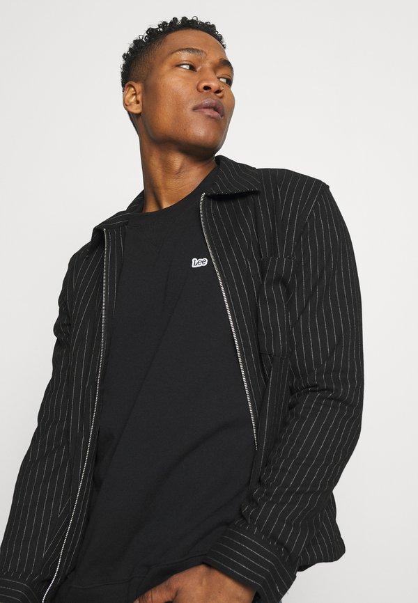 Lee PLAIN CREW - Bluza - black/czarny Odzież Męska CCHI