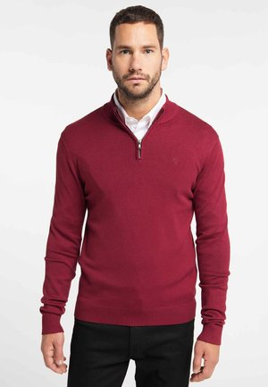 STRICK PULLOVER - Pullover - red wine