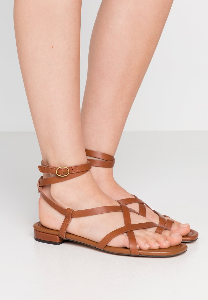 J.CREW - TOE STRAPPY LUCY  - Tongs - warm sepia
