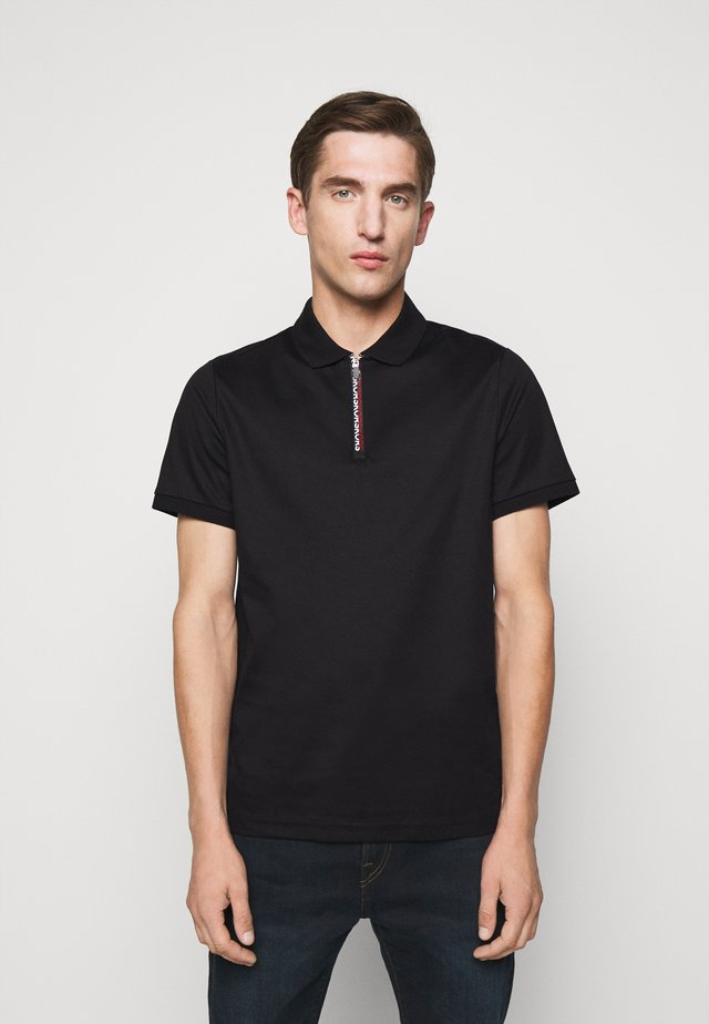 LOGO ZIP - Polo - black