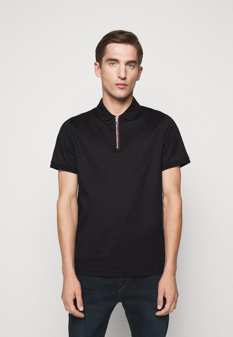 Michael Kors - LOGO ZIP - Polo shirt - black