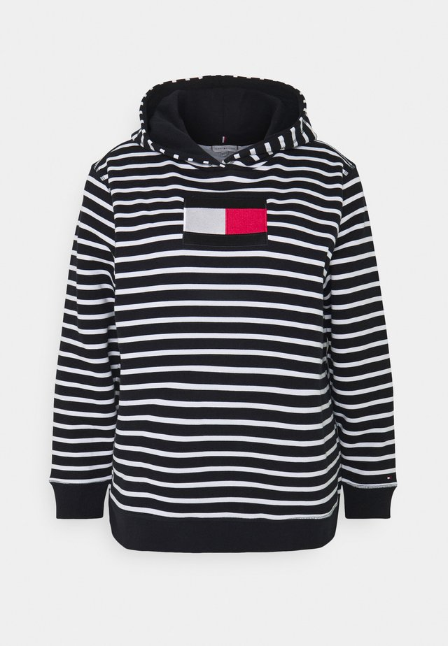 REGULAR FLAG HOODIE - Sweater - desert sky/white
