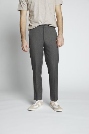 FLANNEL PLAIN TROUSER - Tygbyxor - grey