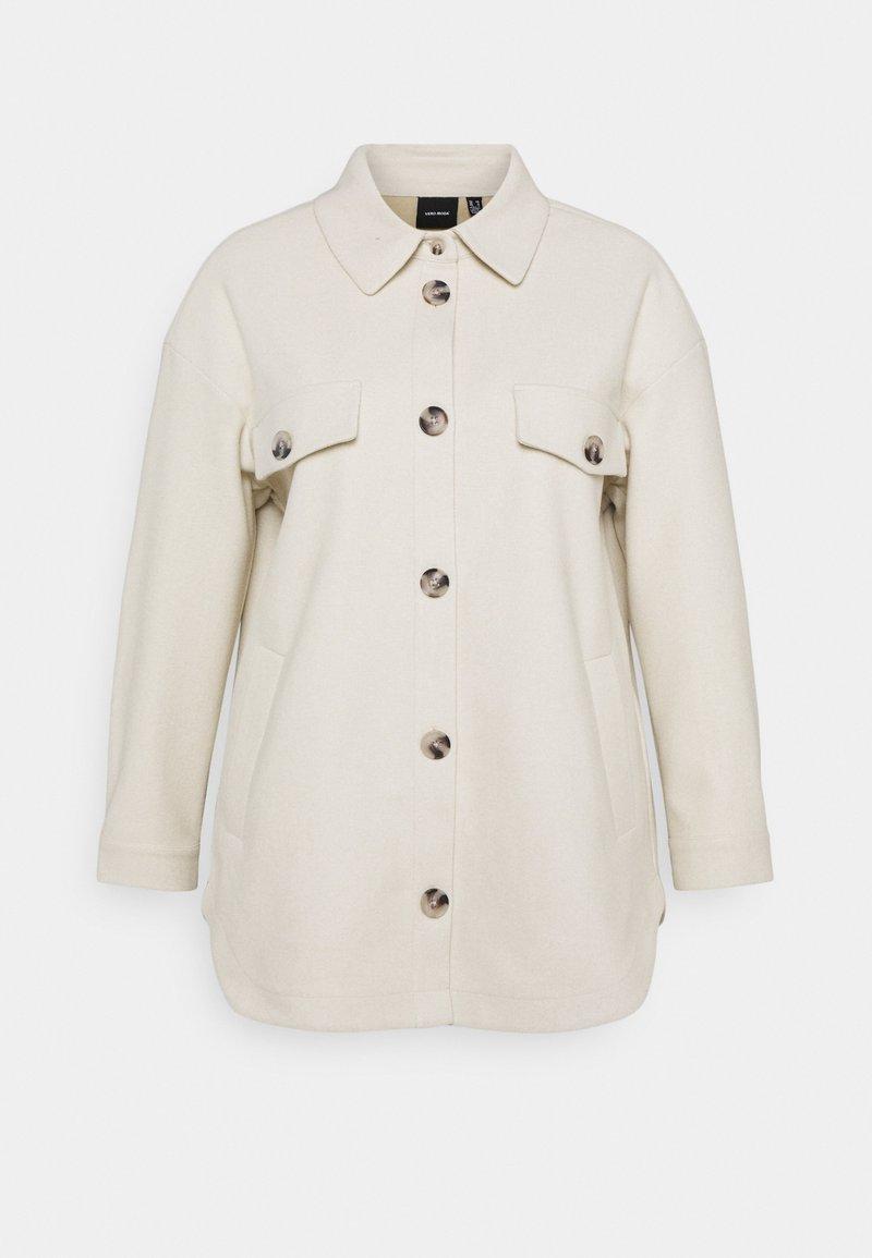 Vero Moda Curve - VMDAFNEALLY JACKET - Krátký kabát - birch/melange