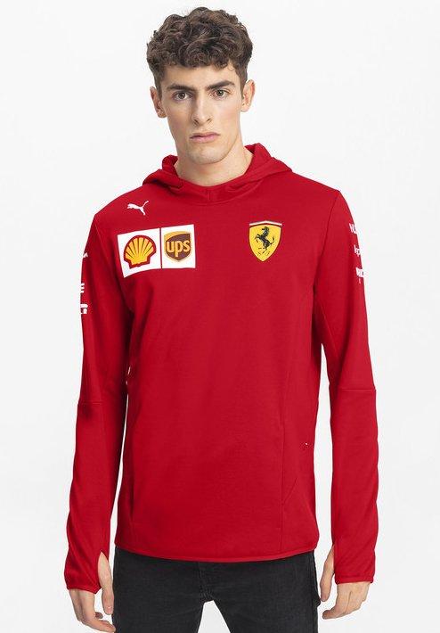 Puma - FERRARI - Felpa con cappuccio - rosso corsa