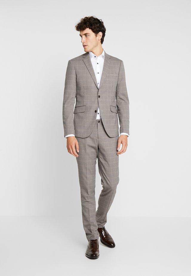 CHECKED SUIT - Suit - beige
