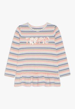 STREIFEN TUNIKA KID - T-shirt à manches longues - neon peach